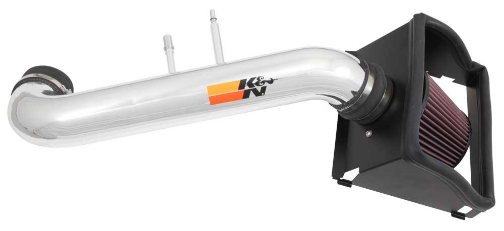 K&N Performance Cold Air Intake Kit 77-2591KP with Lifetime Filter for Ford F150 5.0L V8