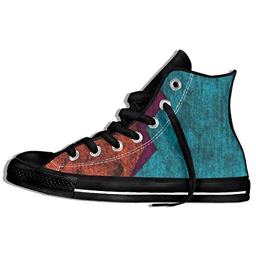 Classiche Sneakers Alte Scarpe Di Tela Antiscivolo Rosso E Blu Casual Da Passeggio Per Uomo Donna Nero