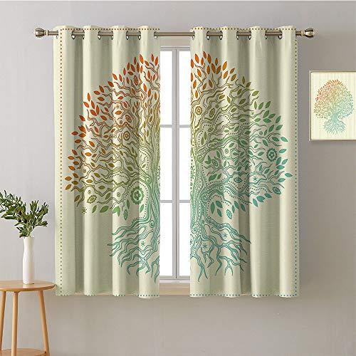 Jinguizi Curtain Kitchen Grommets Light Darkening Curtains Curtains,Extra Darkening Curtains Background Darkening Curtains Room/Bedroom(2 Pieces, 42