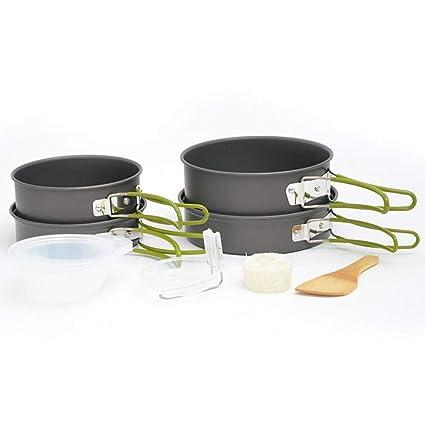 Verus - Juego de sartenes de Acampada para Camping, sartenes antiadherentes, ollas y sartenes