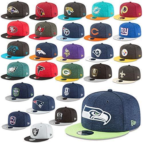3732ecaa9 New Era 9Fifty Snapback Cap NFL Sideline 18 19 Hat Seattle Seahawks Raiders  Patriots Etc in Bundle with UD Bandana  Amazon.co.uk  Sports   Outdoors