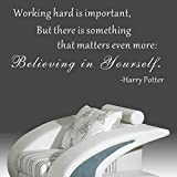 Pop Decors WL-0097-Vb Inspirational Quote Wall Decal, Believing in Yourself