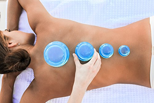 Cupping Therapy Set and FREE Cupping Book (PDF) for Massage Therapy, Muscle Soreness, Trigger Point & Pain Relief, Cellulite - Professional Grade Blue by Lure (Image #3)