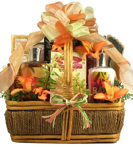 Tropical Retreat Spa and Sweets | Bath and Body Gift Basket for Women (Tropical Retreat)
