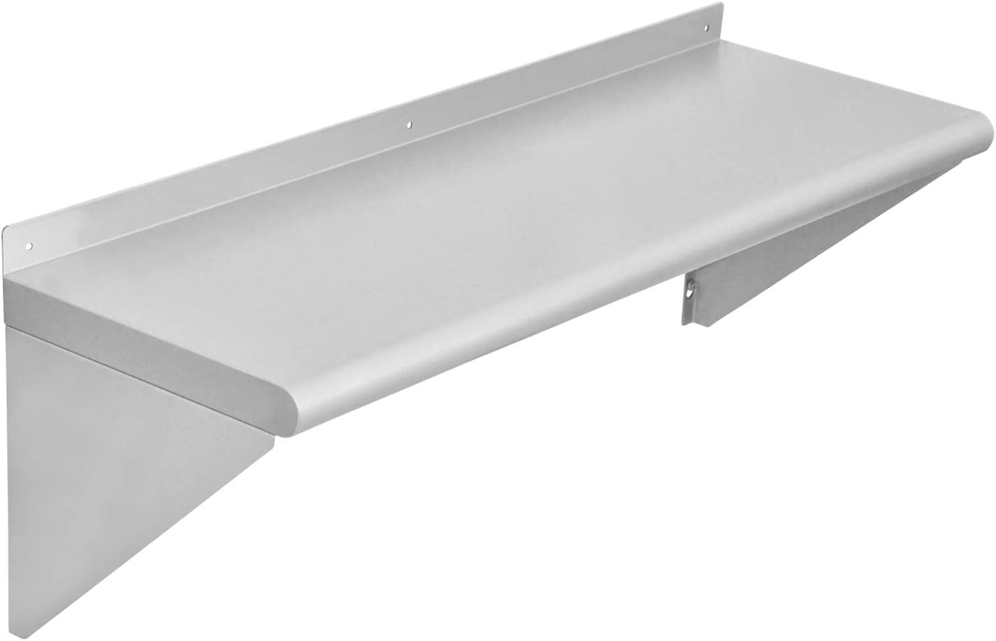 Chingoo Stainless Steel Shelf 12 x 36 Inches, Commercial NSF Wall Mount Floating Shelving for Restaurant, Kitchen, Home and Hotel
