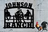 Ranch Sign - Farm Sign - Metal Steel Sign - Handmade USA Ranch Sign Steel Hand Made Custom Metal LARGE SIGN Personalized Family Name Sign