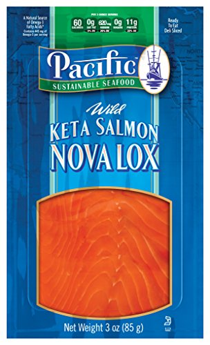 Smoked Salmon Lox Keta 1 Lb Tray Frozen by Newport