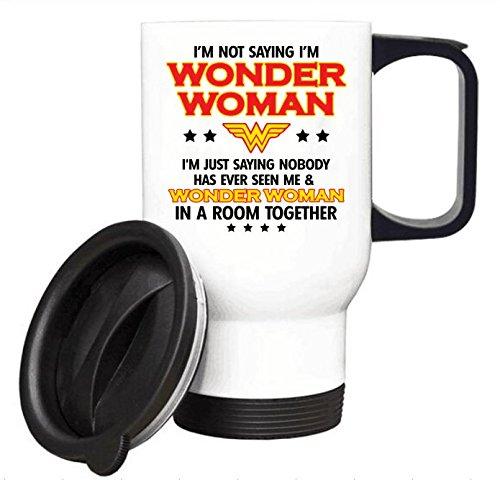 【超特価】 面白い女性ギフトカップ – SLFPK-00004 I Not ' m Not Saying私はWonder Woman旅行コーヒーマグステンレス鋼車カップ14オンス 14オンス ホワイト ホワイト SLFPK-00004 ホワイト B07BL2FDBM, アイダグン:4094d27a --- arianechie.dominiotemporario.com