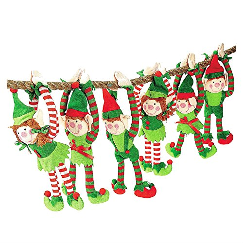 Plush Elf - 6 Long Arm Elves Christmas Gift Favor Decoration Ornament Boys Girls Top Selling -