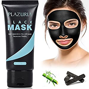 Charcoal Facial Peel Off Mask, Blackhead Remover Deep Cleansing Mask for Acne and Blemishes, 60g