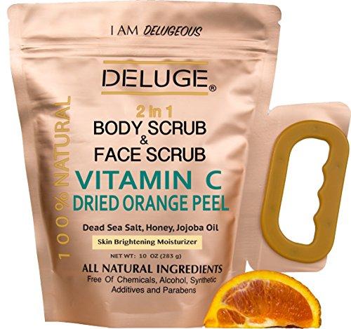 deluge-vitamin-c-scrub-dried-orange-peel-dead-sea-salt-honey-and-jojoba-oil