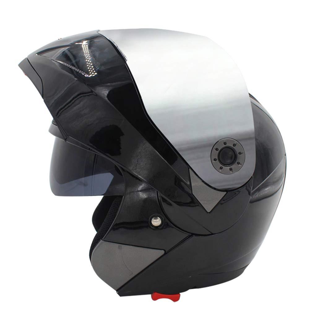 Casco moto integrale da uomo donna fodera in cotone antifodera flip-up quattro stagioni felpe traspiranti caschi motocross 53-61cm