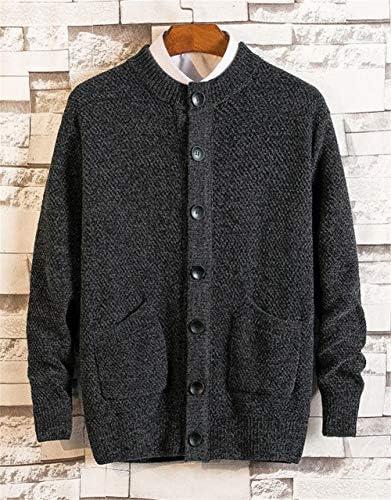 メンズ ニット セーター 開襟 無地トップス おしゃれ かっこいい カジュアル 秋冬