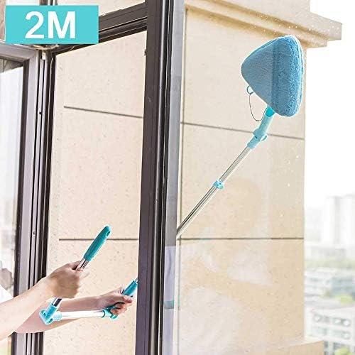 伸縮式ロッド、角度調節可能なスポンジヘッド、天井の窓ガラス用、2M付き状の窓用クリーナーツールトライアングルウィンドウウォッシャー