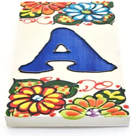 stile craquel/é Design Craquel/é grande 7,5 x 15 cm LetraF nomi e indirizzi TORO DEL ORO Numeri civici e lettere su piastrelle Adesivo in ceramica