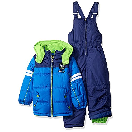 iXtreme Toddler Boys' Active Colorblock Snowsuit, Colorblock Blue, 3T