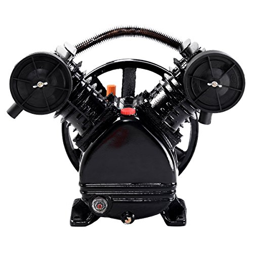 3HP 2 Piston V Style Twin Cylinder Air Compressor Pump Motor Head Air Tool