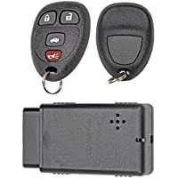 APDTY 24843 Replacement Key-less Entry Remote Key Fob Transmitter Assembly With Do-It-Yourself Programming Tool (Replaces GM Part Number 15252034 Only; You Must Have A Working Keyless Entry System)