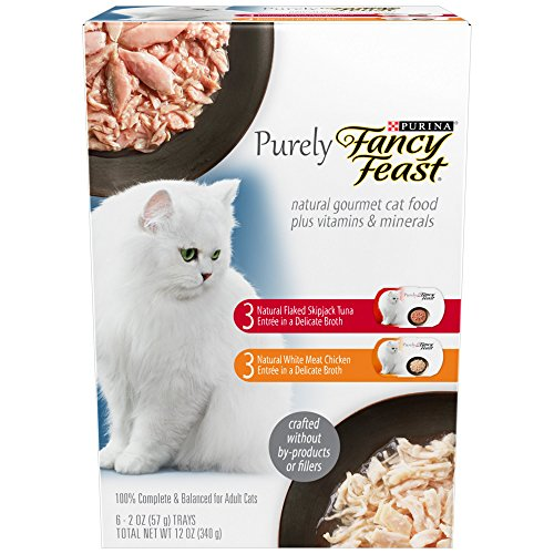 Fancy Feast Purely Adult Cat Food Trays Variety Pack, 2 oz., 6 ct. by Purina Waggin' Train
