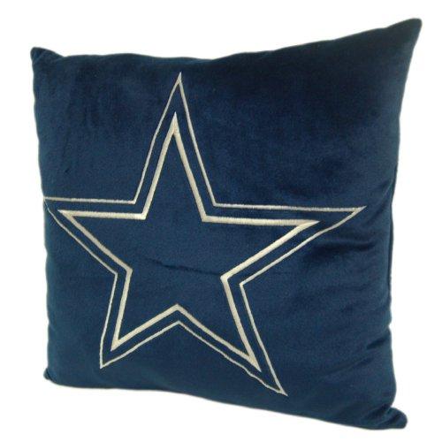 Dallas Cowboys 16-Inch Polyester Felt Plush Pillow (Recliner Cowboys Dallas)