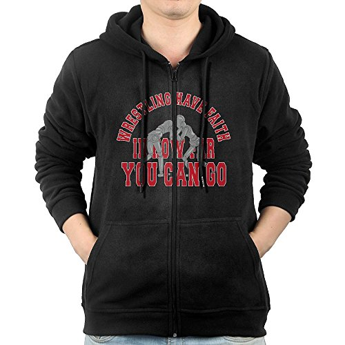 NHTRGB Wrestling Have Faith In How Far You Can Go Man Funny Casual Clothing Zipper First Quality Cool Sweatshirts by NHTRGB