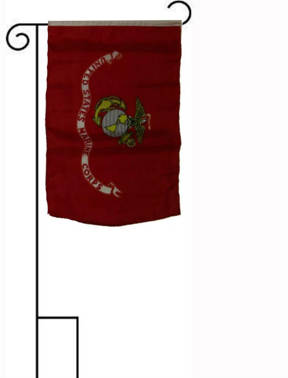 Ramsons Imports United States Marines Nylon Embroidered 12 x 18 Inch Garden Flag USMC Military
