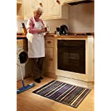 Muddle Mat Stripe 1 Barrier Mat Ultra Absorbent 50x75cm by Muddle Mat