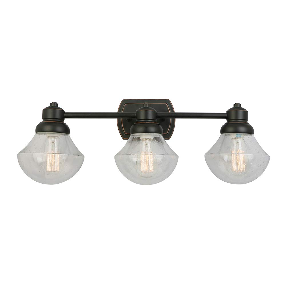 Design House 577874 Sawyer Three Vanity Light, Oil Rubbed Bronze by Design House