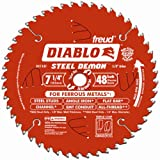 Freud D0748F Diablo Steel Demon 7-1/4 48 Tooth TCG Ferrous Metal Cutting Saw Blade with 5/8-Inch Arbor, Diamond Knockout and PermaShield Coating