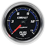 Auto Meter 6162 Cobalt 2-1/16'' 0-15 PSI Full Sweep Electric Fuel Pressure Gauge