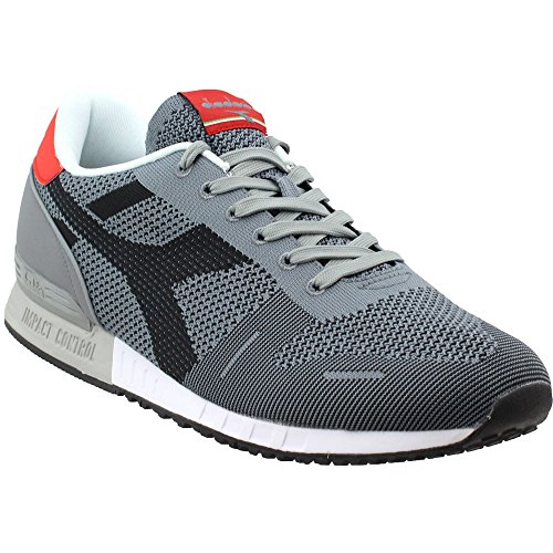 Diadora Unisex Titan Weave Gray/Black 7 Women / 5.5 Men M US