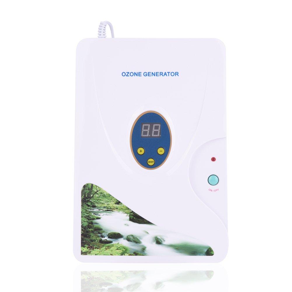 M/áquina de Desintoxicaci/ón de Ozono Generador Ozono Ionizador para Frutas Verduras Carne Uso Hogar Cocina con Temporizador Digital 1-30 Minutos Socialme-EU
