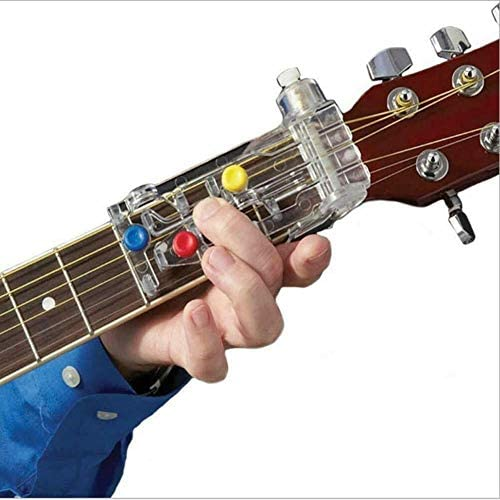 Chord Guitar Learning System Classical Guitar Buddy Learn Guitar for Kids Classiacl Guitar Practice Aid Tool for Trainer Beginner Just Press Buttons and Play Guitar Accessories / Chord Guitar Learning System Classical Guitar Buddy ...