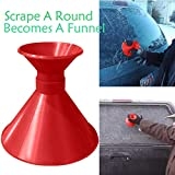 Magic Snow Shovel for Windshield,Aberry Ice Scrapers,Scrape A Round Snow Removers Tool,Car windshield snow Scraper,Cone shaped Ice Scrapers (Red/Funnel Style)