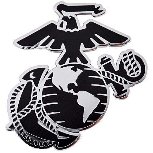 Medals of America U.S. Marine Corps Eagle Globe and Anchor (EGA) Officially Licensed Car Emblem Multicolored
