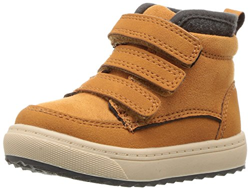 Oshkosh B'Gosh  Boys' Primus Triple Strap High Top Shoes Sneaker, Tan, 5 M US Toddler