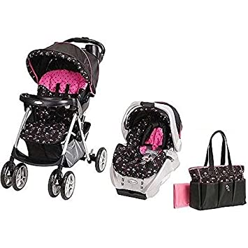 Love Kid Graco Priscilla Travel System Infant Baby Stroller Car Seat Diaper Bag