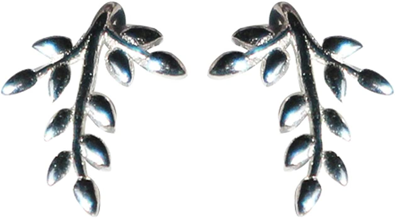 Fairy Lady delicate Ear Studs 925 Sterling Silver For Women and Girls