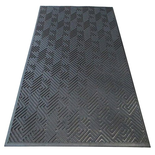 A1 Home Collections A1HCSM10 Maze Design Natural Rubber, Commercial/Residential Scraper Doormat