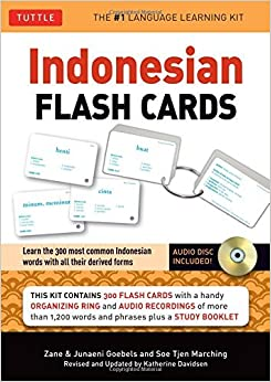 Indonesian Flash Cards: (Audio CD Included) (Tuttle Flash Cards) by Zane Goebel (2013-08-13)