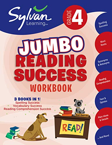 4th Grade Jumbo Reading Success Workbook: Activities, Exercises, and Tips to Help Catch Up, Keep Up, and Get Ahead (Sylvan Language Arts Jumbo Workbooks) ()