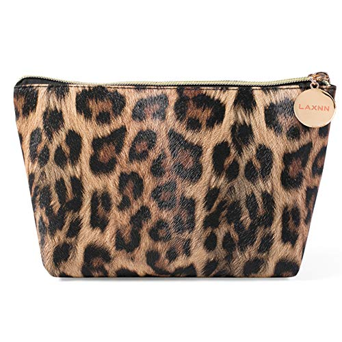 Cosmetic Bag Lipstick - Makeup Bag,Cosmetic Lipstick Cute Pouch Toiletry Travel bag and Brush Organizer Purse Handbag For Women, Leopard