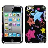Chalkboard Star Black Phone Protector Faceplate Cover For APPLE iPod touch(4th generation)