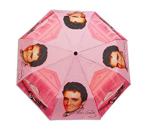 Elvis Presley Foldabld Umbrella Pink with -