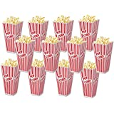 Family Home Popcorn Plastic Container Box Tub Bowl (Set of 12)