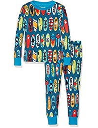 Hatley boys Organic Cotton Long Sleeve Printed Pajama Set
