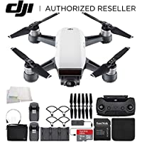 DJI Spark Portable Mini Drone Quadcopter Fly More Combo Bundle (Alpine White)