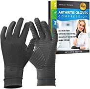 Glalove Compression Gloves - Copper Fit Arthritis Gloves, Full Finger & Carpal Tunnel Design for Relief Ha
