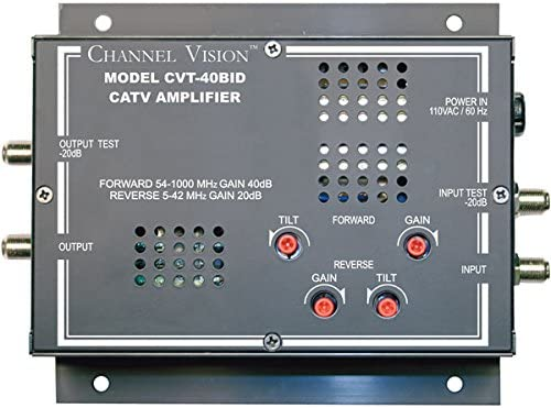 Channel Vision 40dB Bi-Directional RF Amplifier