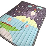 Cusphorn Blue and Grey Crocodile Elephant Play Mat Thick Baby Crawling Mat Room/Bed Room Rug Nursery Rugs Entertainment Floor Mat Infant Carpet